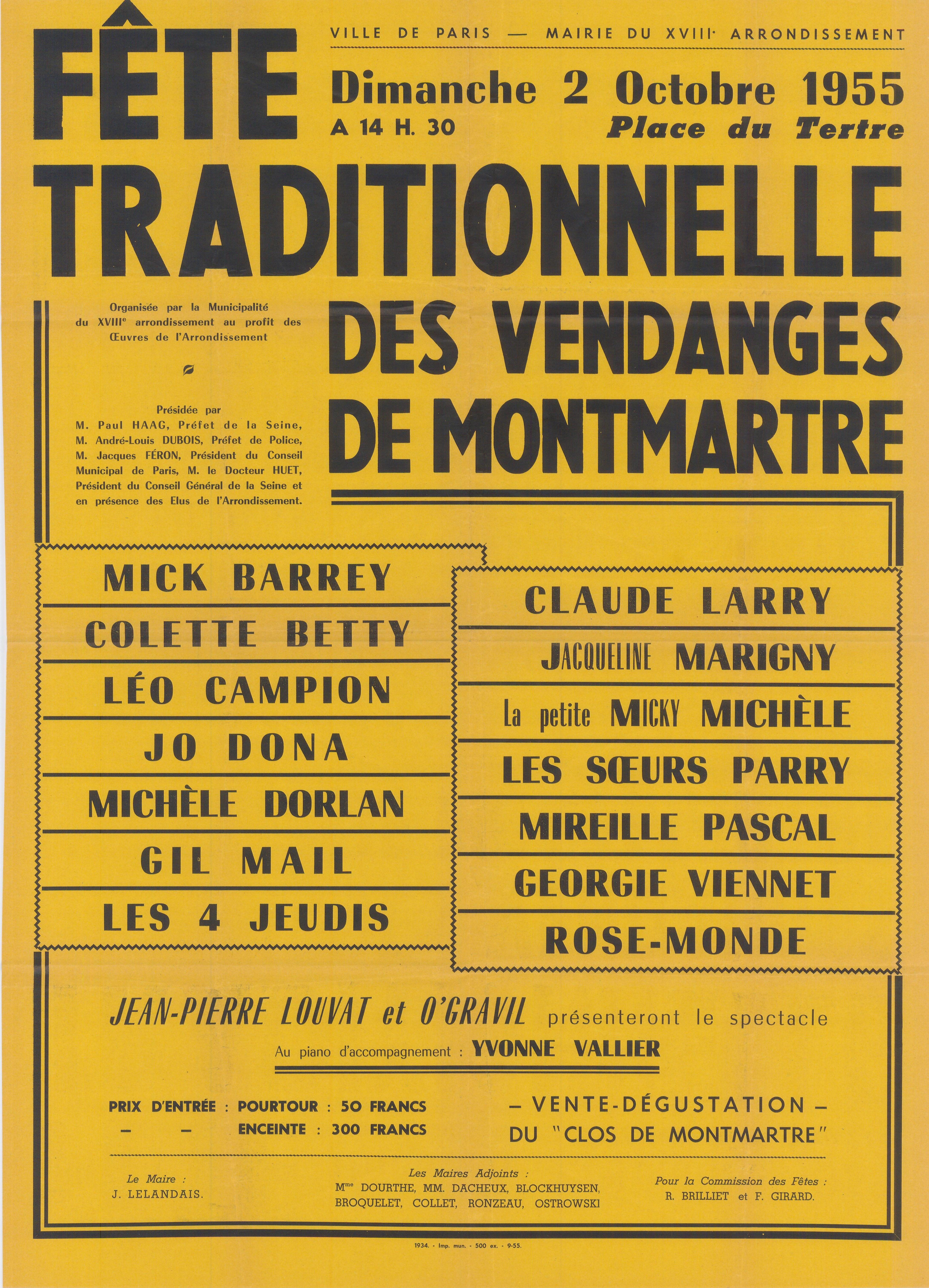 1955-Fête-traditionnelle-Montmartre