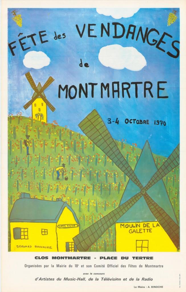 1970 Dessin Naif Montmartre Le Blog De La Bonne Franquette