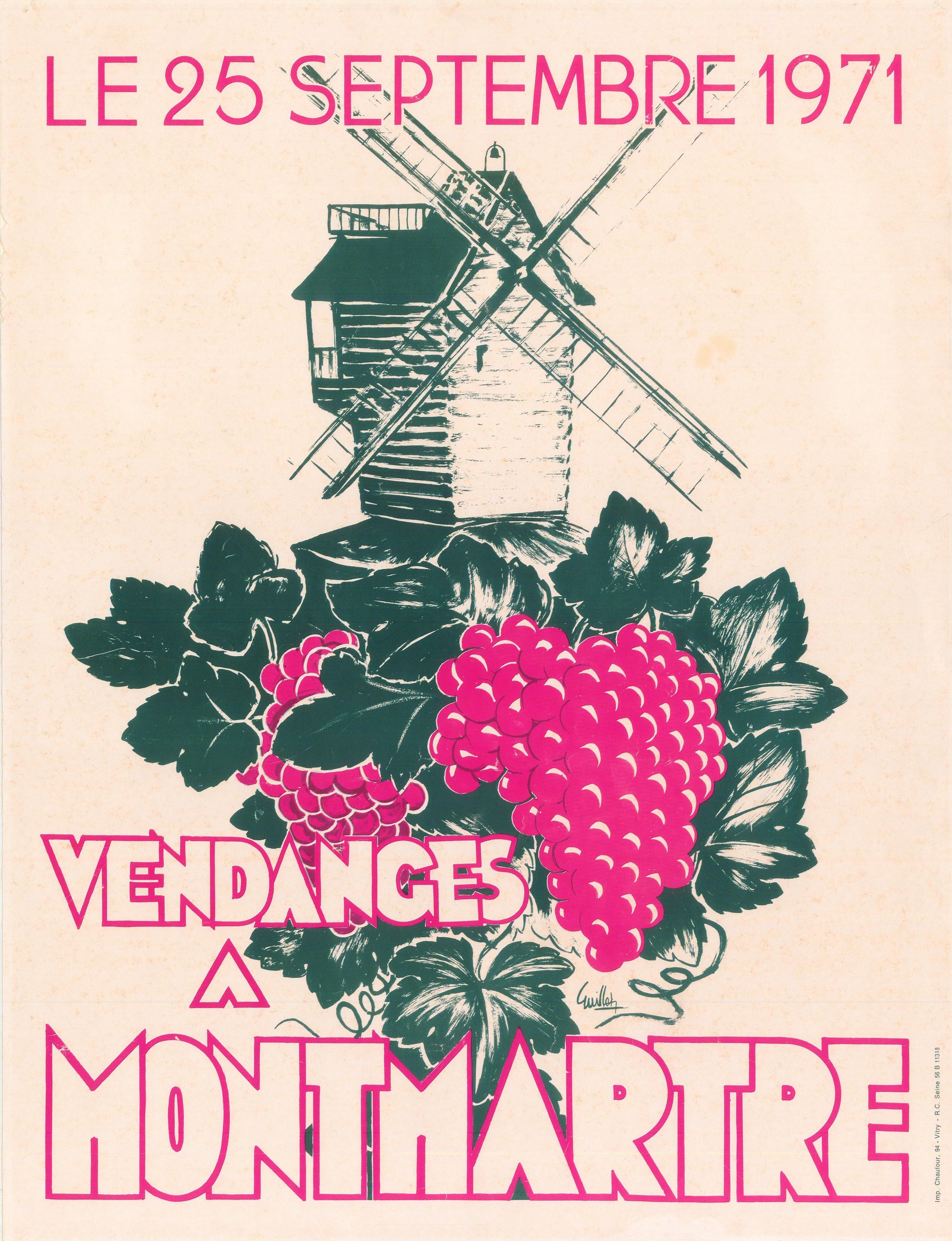 1971-La-Galette-grappe-Montmartre